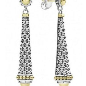 LAGOS SIGNATURE CAVIAR 18K GOLD 925SILVER EARRINGS